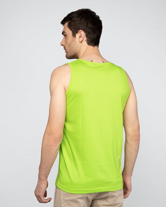 Shop The Vibe Round Neck Vest Neon Green -Design