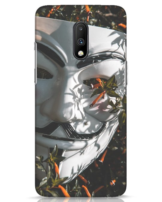 Shop The White Mask OnePlus 7 Mobile Cover-Front