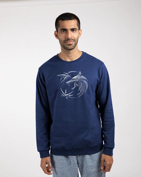 Shop The Witcher Emblem fleece Light Sweatshirts-Front