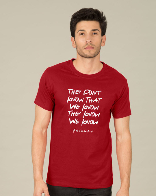 Shop They Don't Know Friends Half Sleeve T-Shirt (FRL)-Back