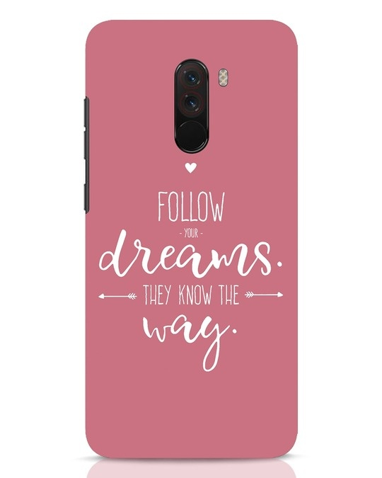 Shop They Know The Way Xiaomi POCO F1 Mobile Cover-Front