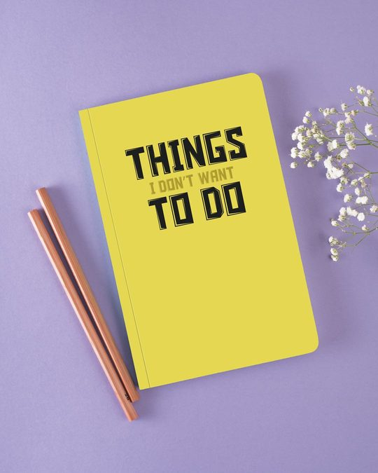 Shop Things To Do Notebook-Front