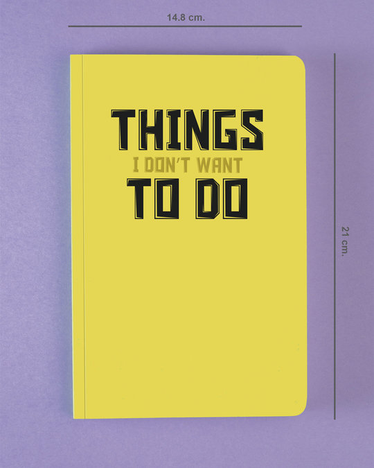 Shop Things To Do Notebook-Back
