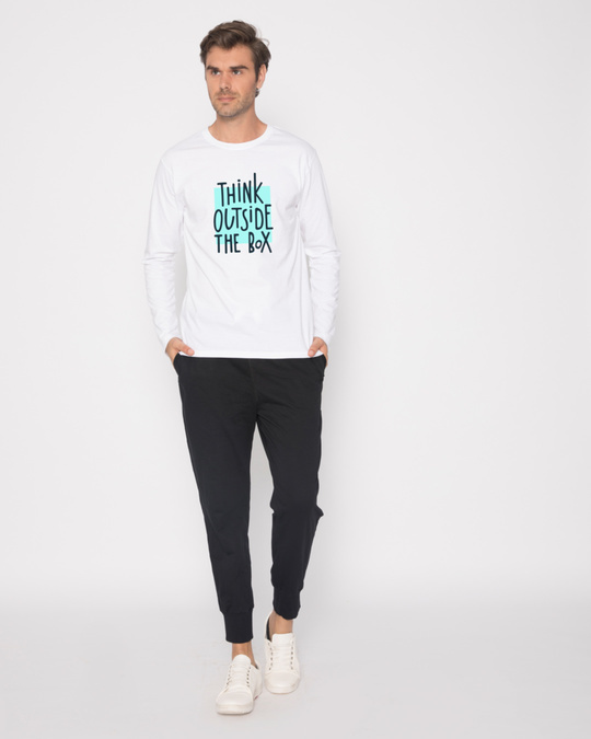 Shop Think Outside Full Sleeve T-Shirt