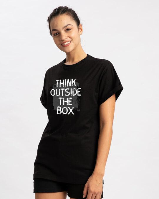 Shop Think Outside Grunge Boyfriend T-Shirt-Back