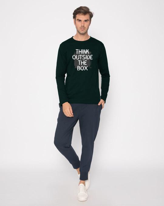 Shop Think Outside Grunge Full Sleeve T-Shirt
