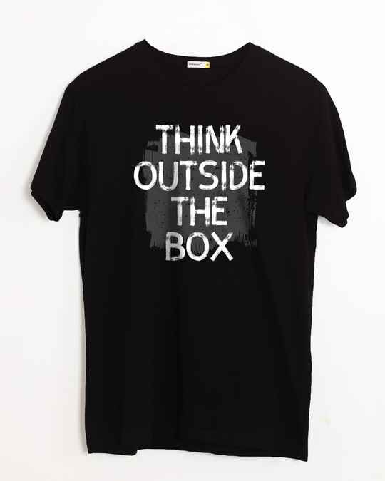 Shop Think Outside Grunge Half Sleeve T-Shirt-Front
