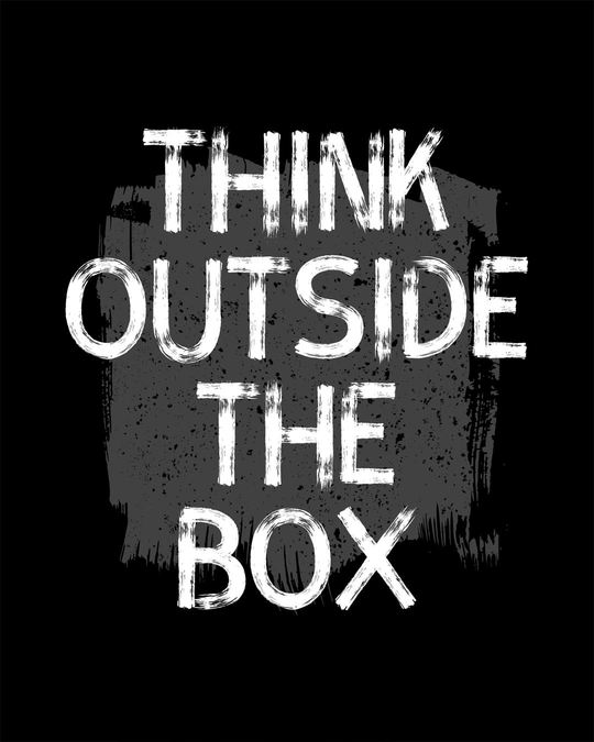Shop Think Outside Grunge Half Sleeve T-Shirt