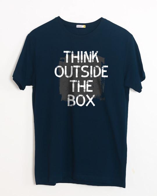 Shop Think Outside Grunge Half Sleeve T-Shirt-Front