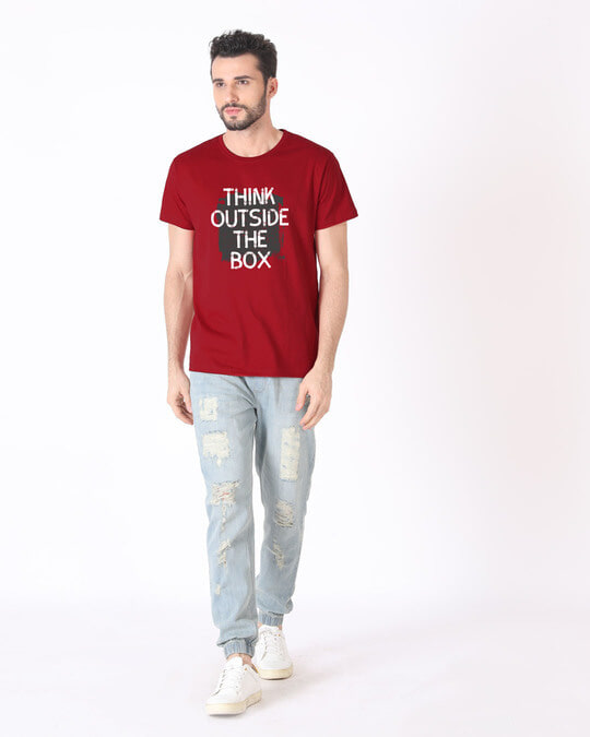 Shop Think Outside Grunge Half Sleeve T-Shirt
