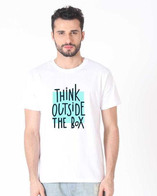 Shop Think Outside Half Sleeve T-Shirt-Back