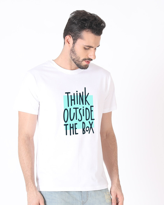 Shop Think Outside Half Sleeve T-Shirt-Design