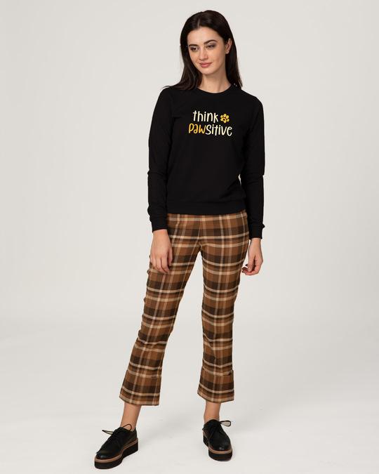 Shop Think Pawsitive Fleece Light Sweatshirt-Design