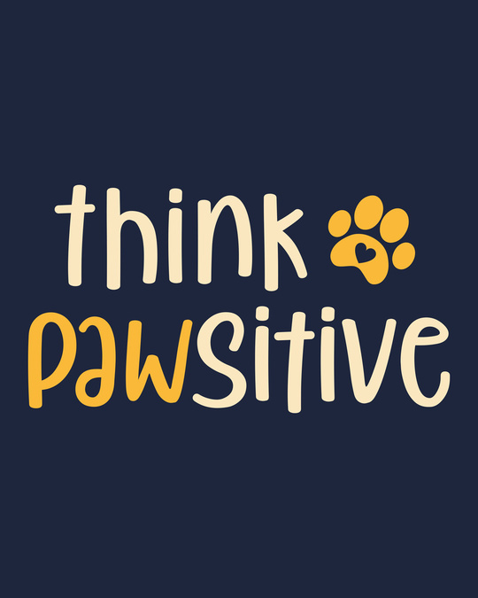 Shop Think Pawsitive Fleece Light Sweatshirt-Full