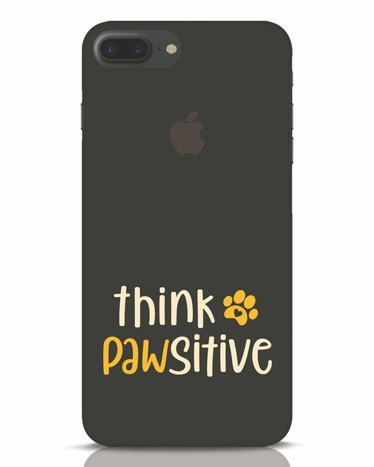 Shop Think Pawsitive iPhone 7 Plus Logo Cut Mobile Cover-Front