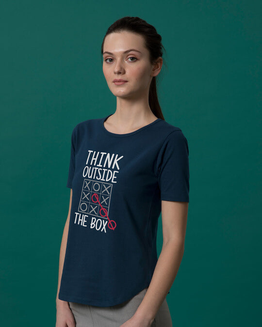 Shop Think Tic Tac Basic Round Hem T-Shirt-Back