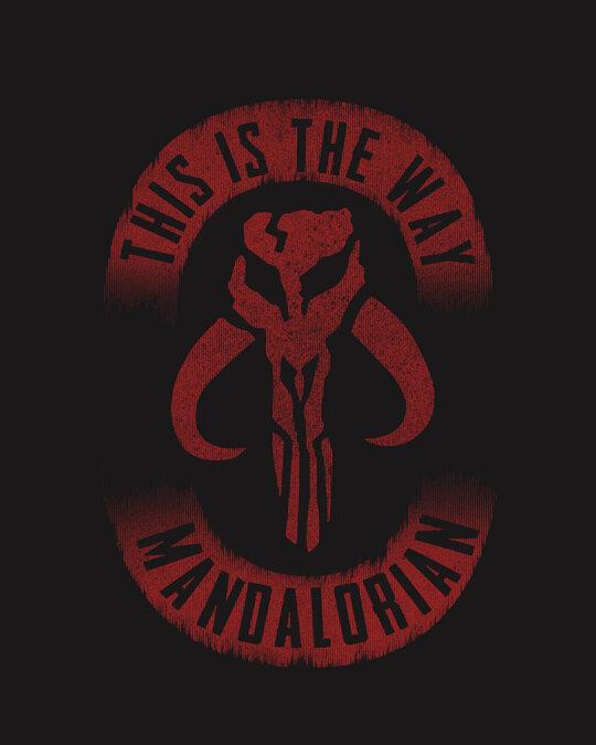 Shop This Is The Way Mandalorian Half Sleeve T-Shirt (SWL)-Full