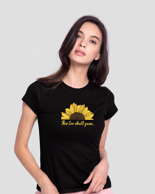 Shop This Too Shall Pass Half Sleeve T-Shirt Black-Front
