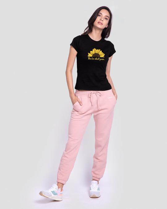 Shop This Too Shall Pass Half Sleeve T-Shirt Black-Design