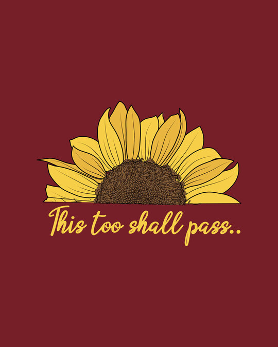 Shop This Too Shall Pass Half Sleeve T-Shirt Scarlet Red-Full