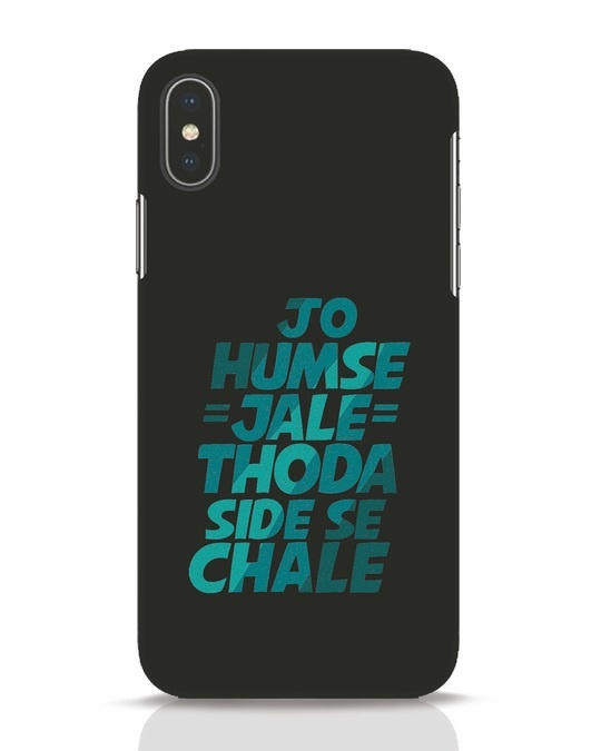 Shop Thoda Side Se Chale iPhone X Mobile Cover-Front