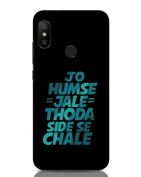 Shop Thoda Side Se Chale Xiaomi Redmi Note 6 Pro Mobile Cover-Front