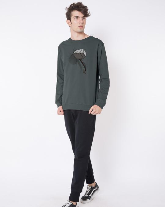 Shop Thor Hammer Fleece Light Sweatshirt (AVL)-Design
