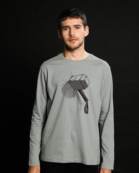 Shop Thor Hammer Full Sleeve T-Shirt (AVL)-Front