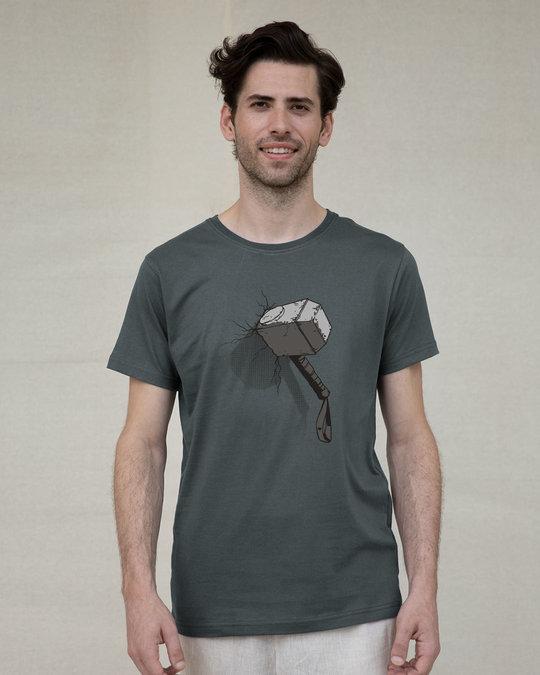Shop Thor Hammer Half Sleeve T-Shirt (AVL)-Back