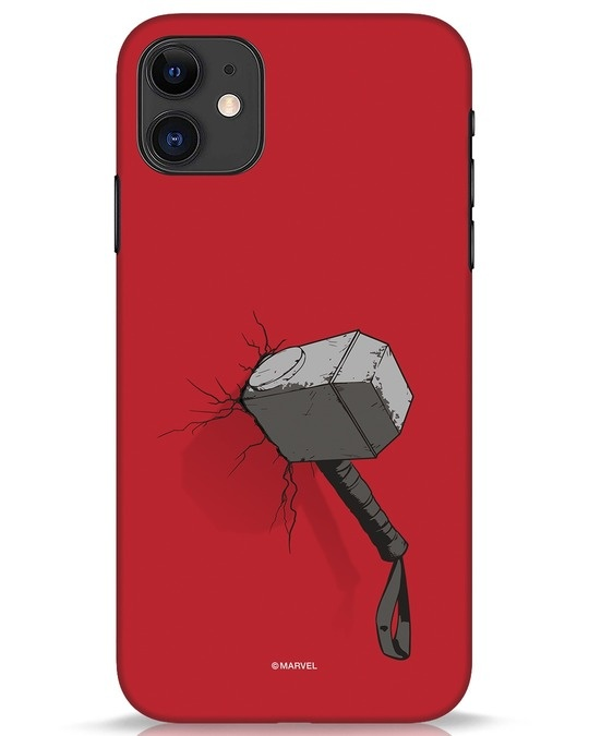 Shop Thor Hammer iPhone 11 Mobile Cover-Front