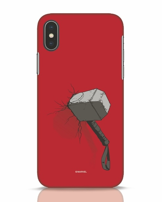 Shop Thor Hammer iPhone X Mobile Cover-Front
