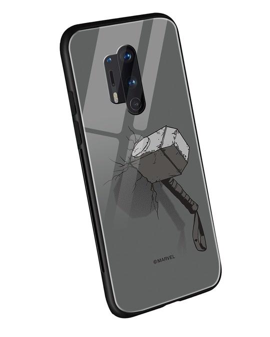 Shop Thor Hammer OnePlus 8 Pro Mobile Cover (AVL)-Back