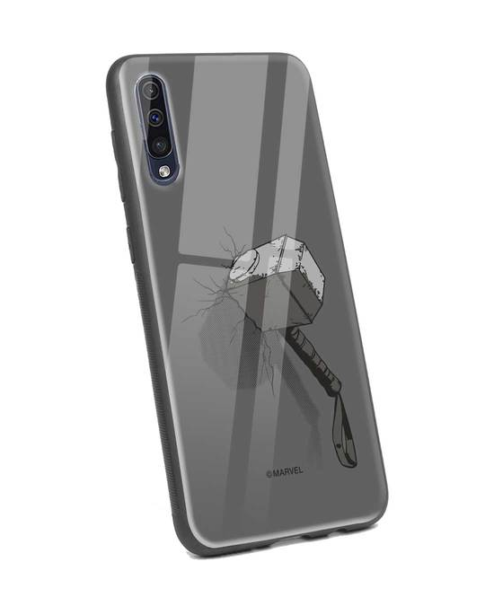 Shop Thor Hammer Samsung Galaxy A50 Glass Mobile Cover (AVL)-Back