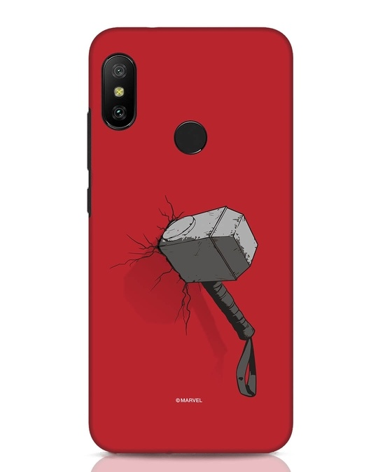 Shop Thor Hammer Xiaomi Redmi Note 6 Pro Mobile Cover-Front