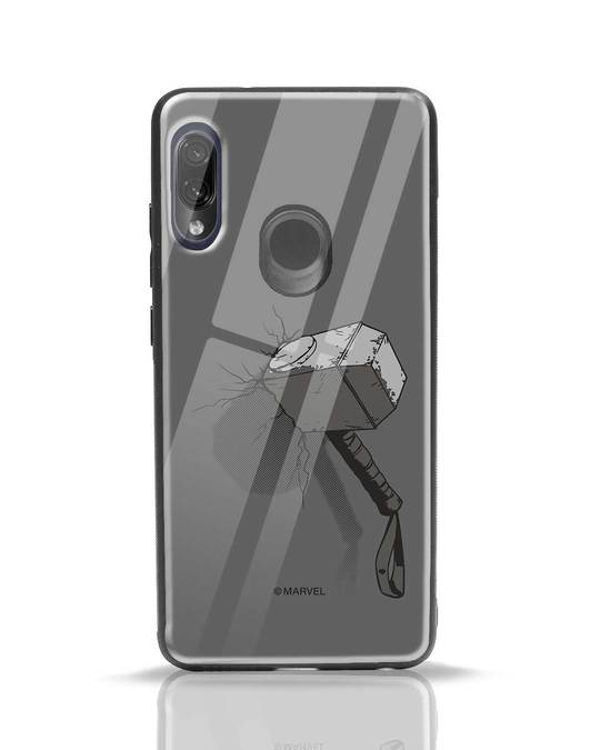 Shop Thor Hammer Xiaomi Redmi Note 7 Pro Glass Mobile Cover (AVL)-Front