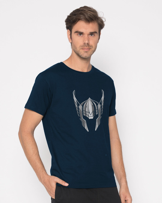 Shop Thor Helmet Half Sleeve T-Shirt (AVL)-Full