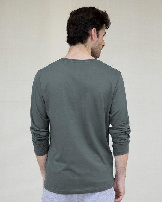 Shop Through The Smoke Full Sleeve T-Shirt-Back