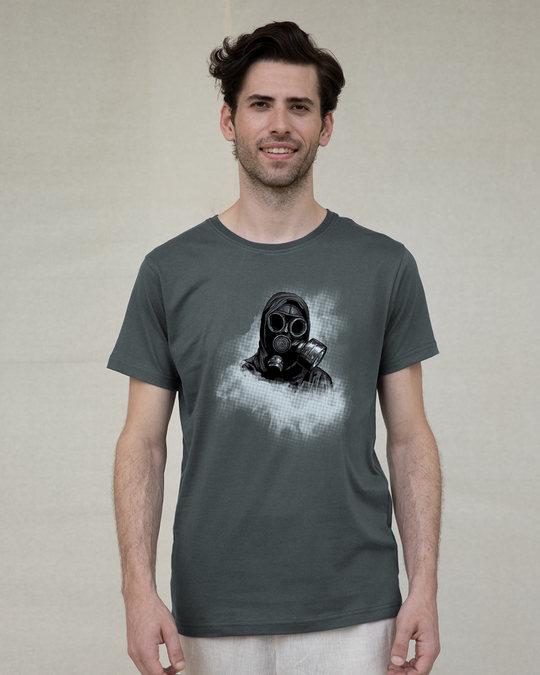 Shop Through The Smoke Half Sleeve T-Shirt-Back