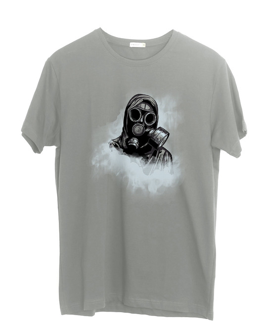Shop Through The Smoke Half Sleeve T-Shirt-Front