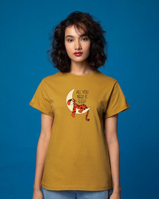 Shop Tigger Sleep Boyfriend T-Shirt (DL)-Front