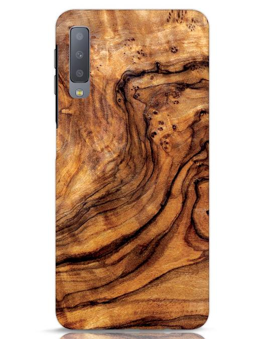 Shop Timber Texture Samsung Galaxy A7 Mobile Cover-Front