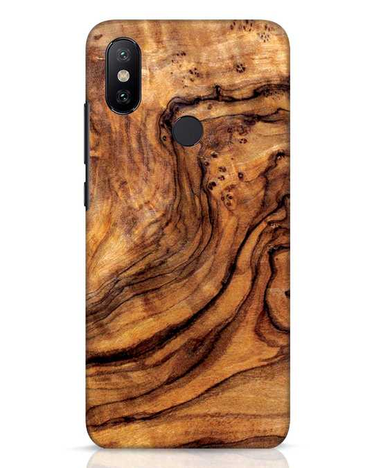 Shop Timber Texture Xiaomi Mi A2 Mobile Cover-Front