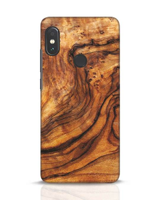 Shop Timber Texture Xiaomi Redmi Note 5 Pro Mobile Cover-Front