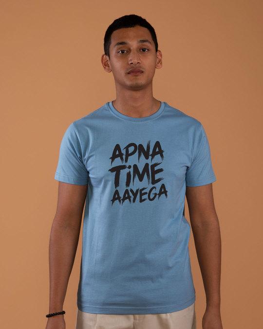 Shop Time Aayega Half Sleeve T-Shirt-Back
