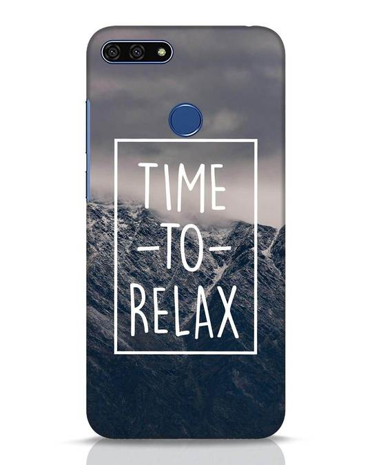 Shop Time To Relax Huawei Honor 7A Mobile Cover-Front