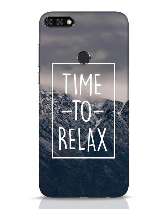 Shop Time To Relax Huawei Honor 7C Mobile Cover-Front