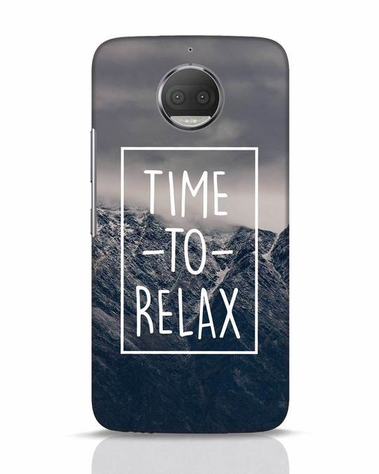 Shop Time To Relax Moto G5s Plus Mobile Cover-Front