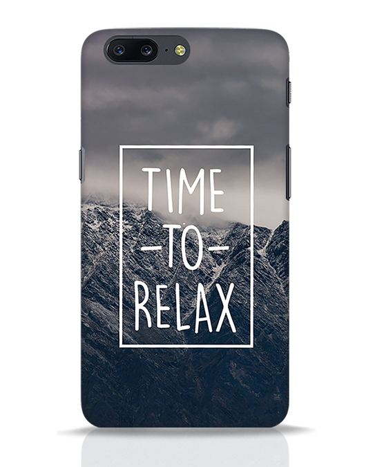Shop Time To Relax OnePlus 5 Mobile Cover-Front