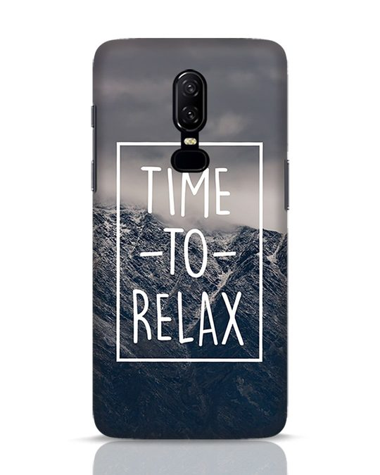 Shop Time To Relax OnePlus 6 Mobile Cover-Front