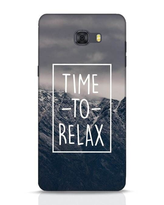 Shop Time To Relax Samsung Galaxy C9 Pro Mobile Cover-Front